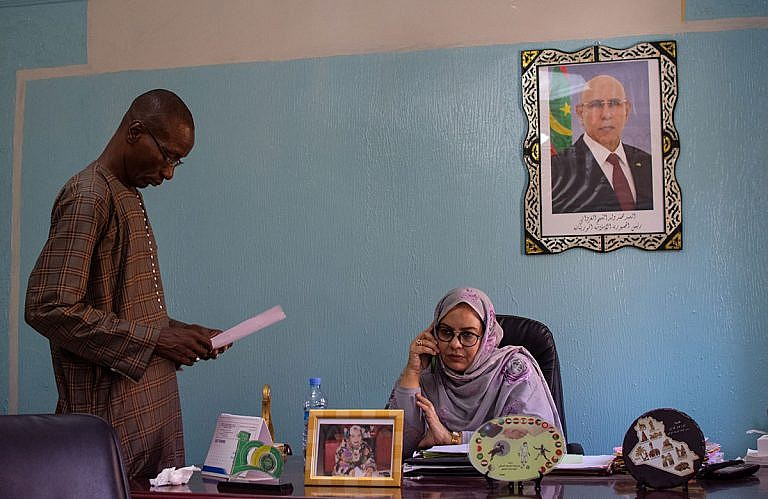 Hendou Mint Cheikhna, commissaire de police au sein de la Brigade des Mineurs Ouest de Nouakchott. Photo: Aude Rossignol